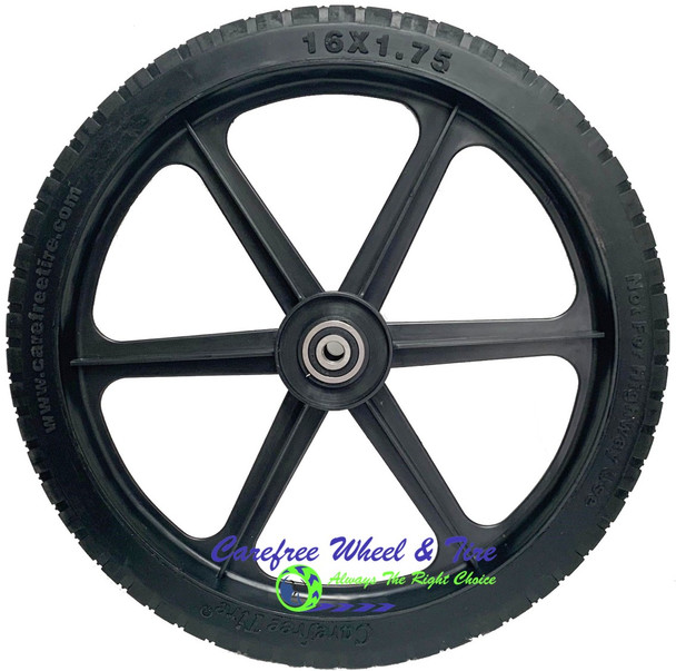 "16"" x 1.75"" XHD 6 Spoke Universal Fit For Cart Wheels"