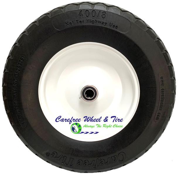 "4.80/4.00-8 Inch, (15"" x 4"") HD Contractor Stud/Diamond Tread Wheelbarrow Assembly-Black Tire"