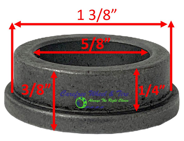 "5/8"" ID X 1-3/8"" OD x 3/8"" H Flange Oil Impregnated Powder Metal Bushing. Pack of 2"