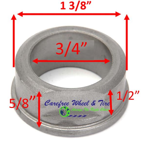 "3/4"" ID X 1-3/8"" OD x 5/8"" H Flange Oil Impregnated Powder Metal Bushing. Pack of 2"