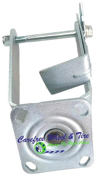 "280/250-4 (8""-9"") SWIVEL Caster YOKE With ON/OFF Wheel Lock (Brake) Pedal"