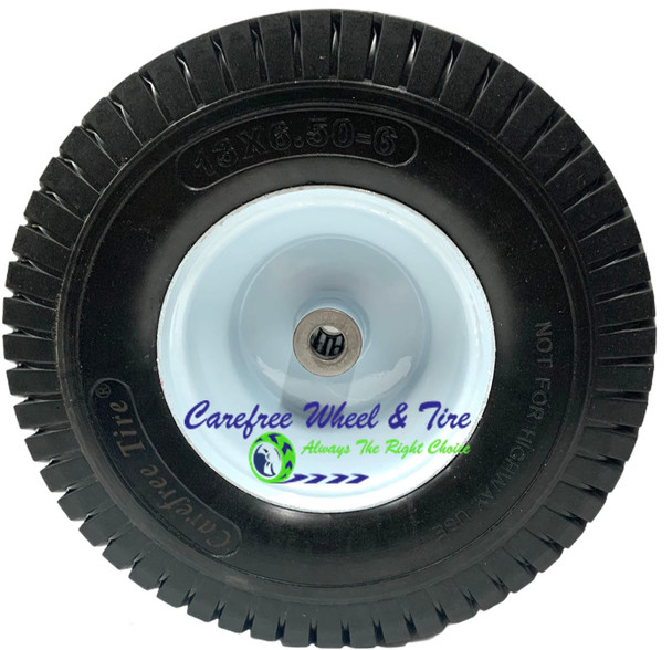"""13 x 6.50 - 6 Wheel Assy With 3"""" Center and 3/4"""" Bushing W/Roller Bearings"""