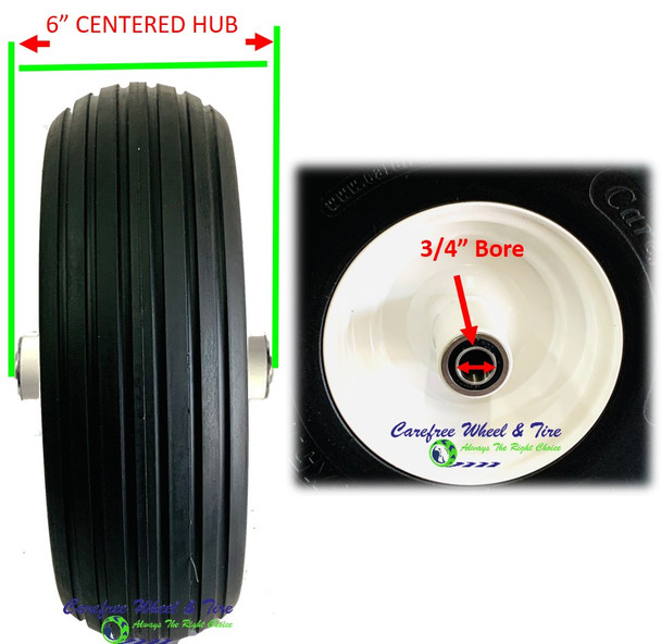 "13"" x 5.00-6 Assembly With 6"" Center Hub and Your Choice of Bore Size"