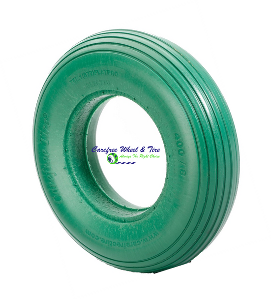 "4.80/4.00-8 (15""x4"") Rib Tread, Green Color Wheelbarrow Tire"