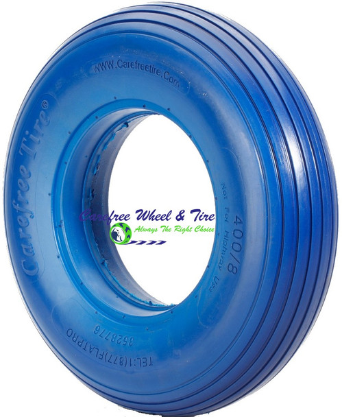 "4.80/4.00-8 (15""x4"") Rib Tread, Blue Color Wheelbarrow Tire"