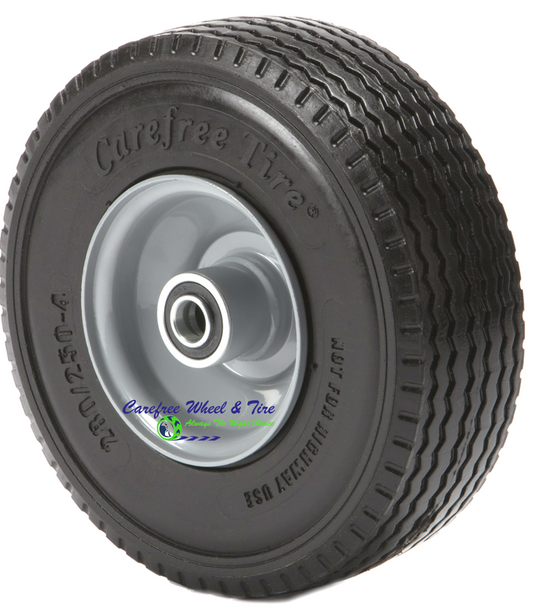 """280/2.50-4 Wheel and Tire Assembly. 2 1/4"""" OFF-Centered Hub"""