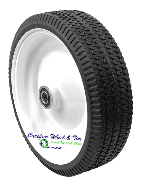"""10x3 Low Profile Tire Mounted on 8.5"""" White Steel Rim"""