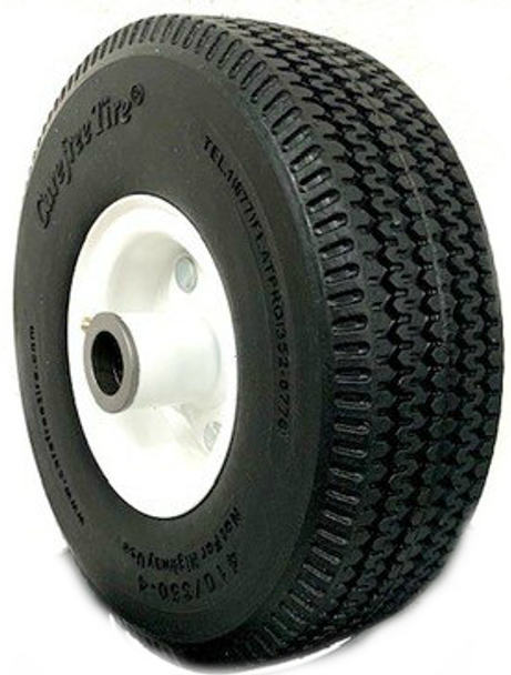 """410/350-4 (10""""x 3"""") Carefree 3Piece Wheel With 3 1/2"""" Centered Hub"""