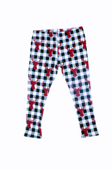 The Buffalo Check Holiday Leggings for Kids
