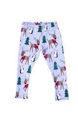 The Deer Holiday Leggings for Kids