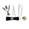 Set of 7 Stainless Steel Portable Cutlery Set