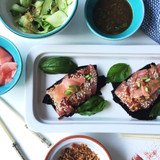 Finger Lime & Sweet Sesame Tuna Sashimi Bowls