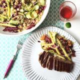 Riberry, Chickpea & Quinoa Salad with Seared Lamb