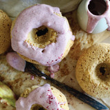 Coconut Donuts with Davidson Plum Drizzle