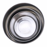 Set of 3 Round Nesting Stainless Steel Food Containers - Black Lid