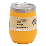 Stainless Steel Drink Tumbler 350ml - Yellow