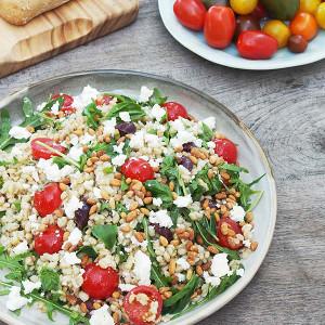 Barley Salad with Tomatoes, Feta & Basil