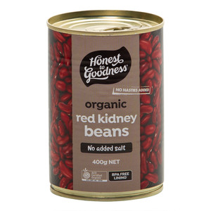 Honest to Goodness Organic Red Kidney Beans