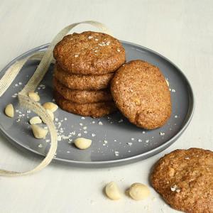 Gluten Free Lemon & Macadamia ANZAC Biscuits