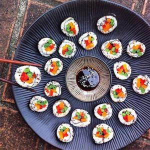 Vegetable Quinoa Sushi