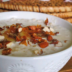 Banana Coconut Porridge Slow Cooked