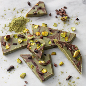 Vegan Marbled Matcha Chocolate Bark