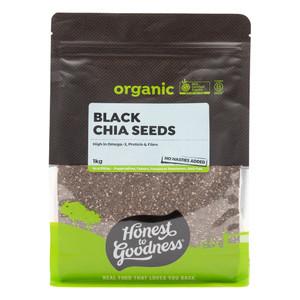 Organic Black Chia Seeds 1KG