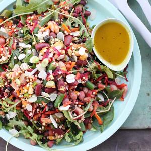 Buckwheat & Four Bean Salad with Turmeric Dressing