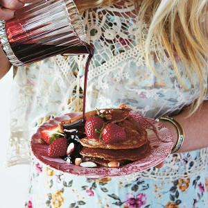 Strawberry and Almond Pancakes