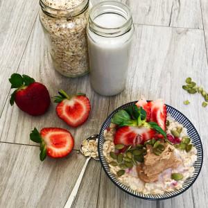 Warming Cranberry, Coconut and Strawberry Porridge