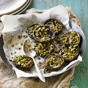 Stuffed Mushrooms with Pistachios