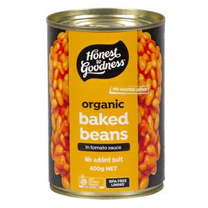 Honest to Goodness Organic Baked Bean No Added Salt