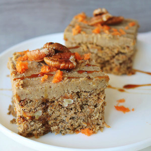 Carrot Pecan Cake with Vanilla Cashew Icing