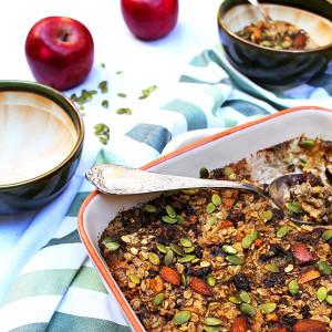 Apple & Cranberry Baked Muesli
