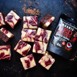 Vegan Red Velvet Cheesecake Brownies