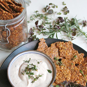 Gluten Free Seed Crackers