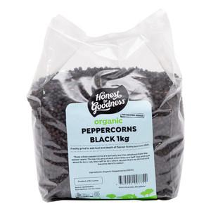 Organic Peppercorns Black 1KG