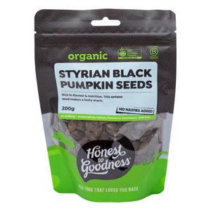 Organic Styrian Black Pumpkin Seeds 200g