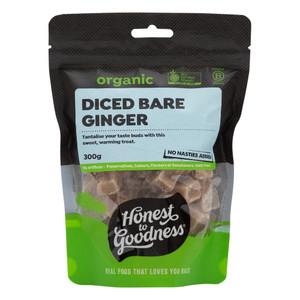Organic Diced Bare Ginger 300g