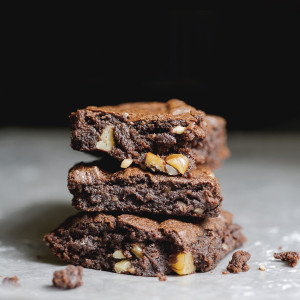 Rich Dark Chocolate Brownies