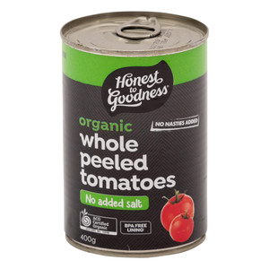 Organic Whole Peeled Tomatoes 400g