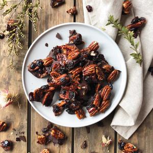 Cranberry & Orange Maple Pecan Bark