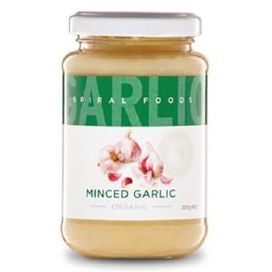 Organic Minced Garlic 220g