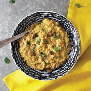 Mushroom & Oregano Brown Rice Risotto