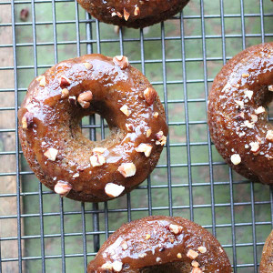 Banana Lucuma Donuts with Lucuma Glaze