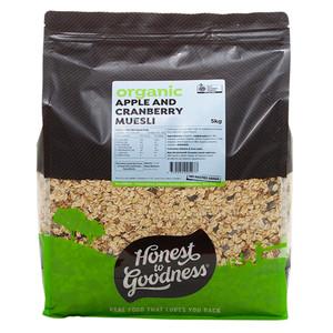 Honest to Goodness Organic Apple & Cranberry Muesli