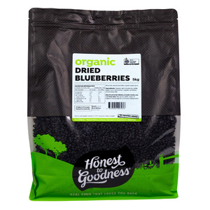 Honest to Goodness Organic Dried Blueberries