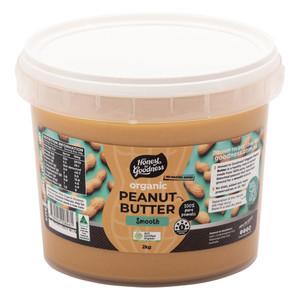 Organic Smooth Peanut Butter 2KG
