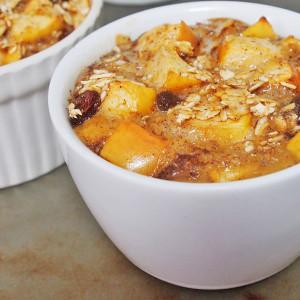 Baked Apple Oat Breakfast Puddings