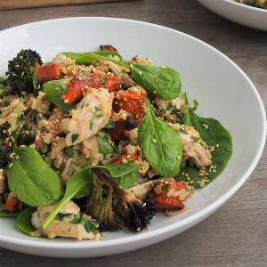 Turkey, Brown Rice & Miso Salad